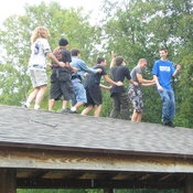 Roof Conga, in the Rain