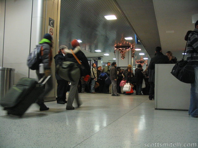 Penn Station, New Year's eve.