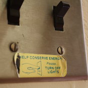 Ancient reminder to conserve power