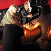 Tristan resets the chess board