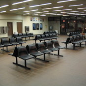Rochester Amtrak station near midnight