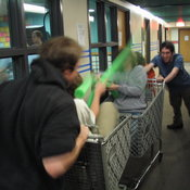 Shopping Cart Jousting 4